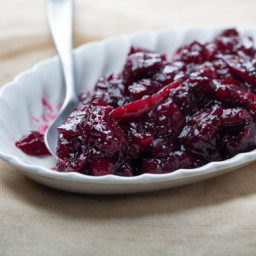 Cabernet-Cranberry Sauce with Figs