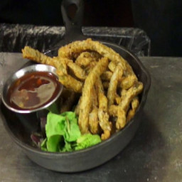 Cactus Fries with Prickly Pear Sauce