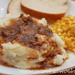 Caden's Hamburger Gravy and Mashed Potatoes