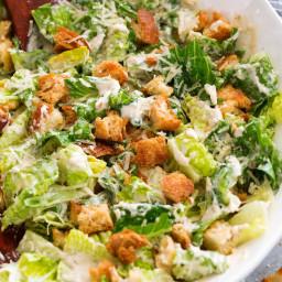 Caesar Salad and Homemade Caesar Salad Dressing
