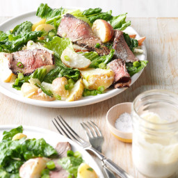 Caesar Salad with Grilled Steak and Potatoes Recipe