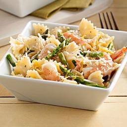Caesar Shrimp & Asparagus Pasta