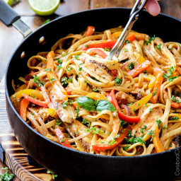 Cajun Chicken Pasta in Sun-Dried Tomato Alfredo Sauce