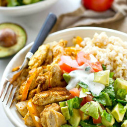 Cajun Chicken Rice Bowls with Avocado Salad