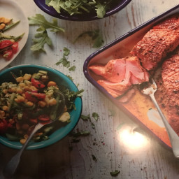 Cajun Salmon With Sweetcorn And Cucumber Relish