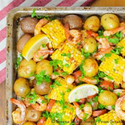 Cajun Shrimp and Sausage Sheet Pan Dinner
