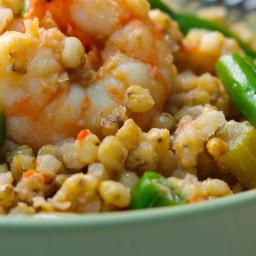 Cajun Style Shrimp and Green Bean Sorghum Bowls