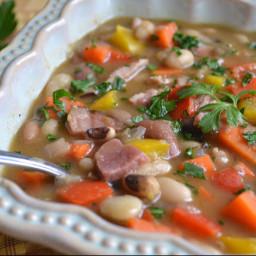 Cajun Ten Bean and Ham Soup