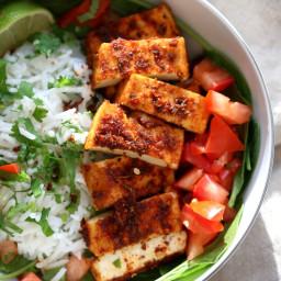 Cajun Tofu Bowl with Cilantro Lime Rice