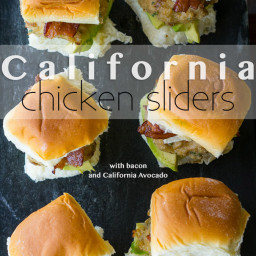 California Avocado Chicken Sliders
