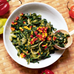 Callaloo with Hot Pepper Vinegar