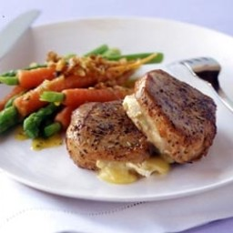 Camembert stuffed pork