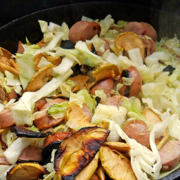 Camp Food: Chicken Apple Sausage Skillet