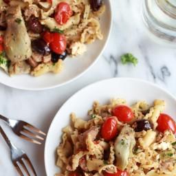 Campanelle Pasta with Tuna Tomates and Artichokes