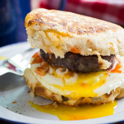Campfire Breakfast Burger Recipe