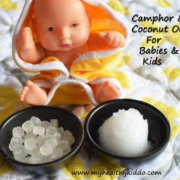 Camphor and coconut oil for cold and congestion in babies and kids
