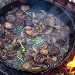 Camping - Campfire Mushrooms