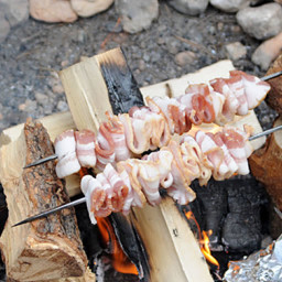 Camping - Skewered Bacon