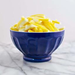 Candied Lemon Peels (and Lemon Simple Syrup)