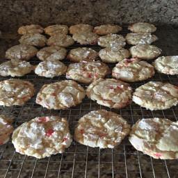 Candy Cane Crinkle Cookies by Jennifer Kaspszak/Snyder