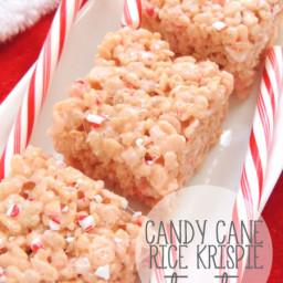 Candy Cane Rice Krispie Treats