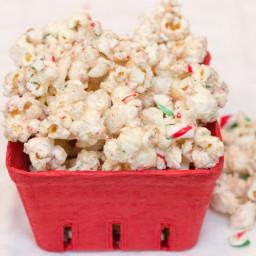 Candy Cane White Chocolate Popcorn