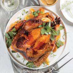 Cane Syrup-Brined Roast Turkey