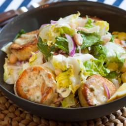 Cannellini Bean and Escarole Saladwith Crispy Potatoes