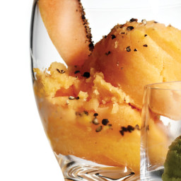 Cantaloupe–Black Pepper Sorbet