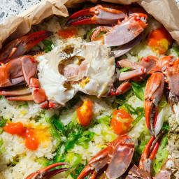 Cantonese-Style Crab-Steamed Sticky Rice (籠仔蒸蟹糯米飯)