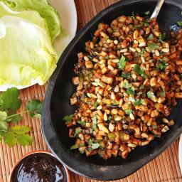 Cantonese-Style Tofu, Pine Nut, and Jicama Lettuce Cups (San Choi Bao) Reci
