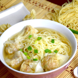 Cantonese style wonton and wonton soup