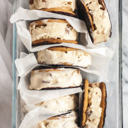 Cappuccino Daim Ice Cream Sandwiches