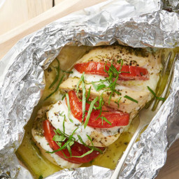 Caprese Chicken Foil Pack