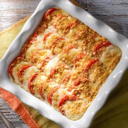 Caprese-Potato Bake