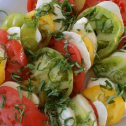 Caprese Salad (Tomato, Mozzarella, Basil) In Classic Italian Style