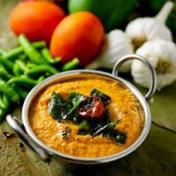 Capsicum Chutney, Sutta Kudamilagai Chutney Recipe
