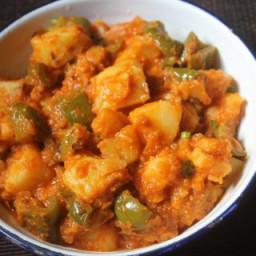 Capsicum Potato Curry Recipe