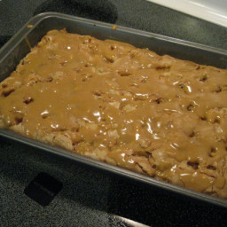 Caramel Apple Cake With Caramel Topping ( Paula Deen)