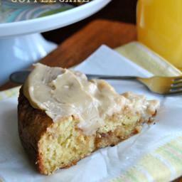 Caramel Apple Cinnamon Roll Coffee Cake