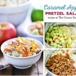 Caramel Apple Pretzel Salad