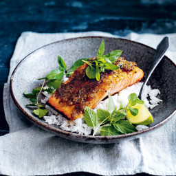 Caramelised Lemongrass Salmon With Coconut Rice