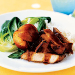 Caramelised Pork with Fresh Peaches
