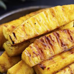 Caramelized Brown Sugar Cinnamon Grilled Pineapple
