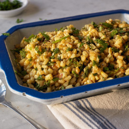 Caramelized Corn With Fresh Mint