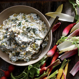 Caramelized Leek and Spinach Dip