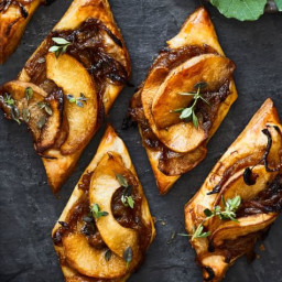 Caramelized Onion and Apple Tarts with Gruy and #232;re and Thyme