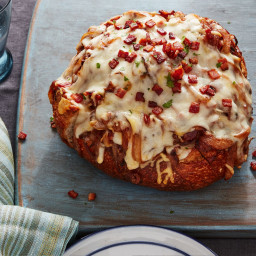 Caramelized Onion and Bacon Pull-Apart Bread