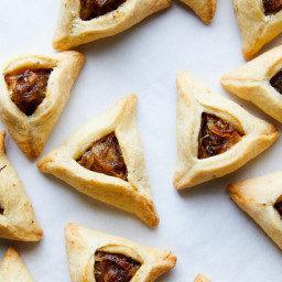 Caramelized Onion and Poppy Seed Hamantaschen