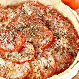 Caramelized Onion and Tomato Tart Au Gratin